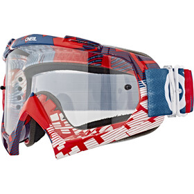 O'Neal B-10 Goggles, pixel red/blue-clear